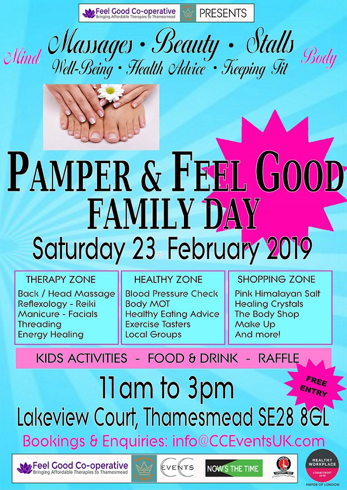 Pamper & Feel Good Family Day at the Thamesmead